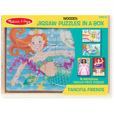 Melissa & Doug fanciful friend puzzles in a box