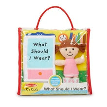 Melissa & Doug what to wear dress-up cloth book