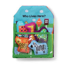 Melissa & Doug who lives here? cloth book