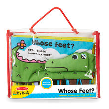 Melissa & Doug whose feet cloth book