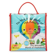 Melissa & Doug wonderful world of peekaboo cloth book