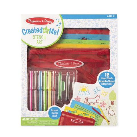 Melissa & Doug stencil art set