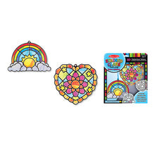 Melissa & Doug stained glass made easy- heart & rainbow