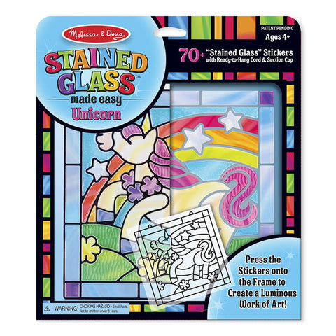 Melissa & Doug stained glass made easy- unicorn