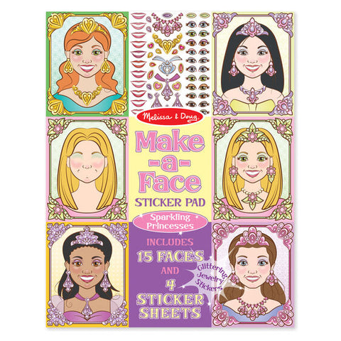Melissa & Doug princess make a face sticker pad