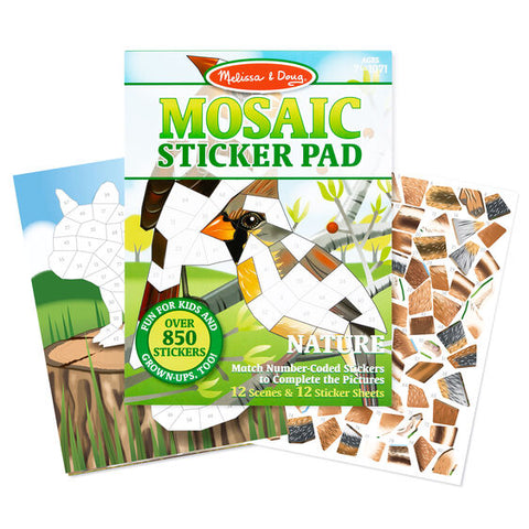 Melissa & Doug nature mosaic sticker pad