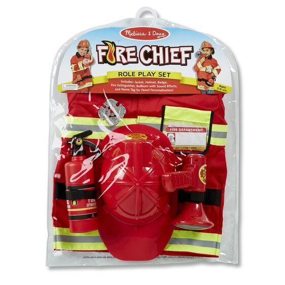 Melissa & Doug role play costume set: fire chief