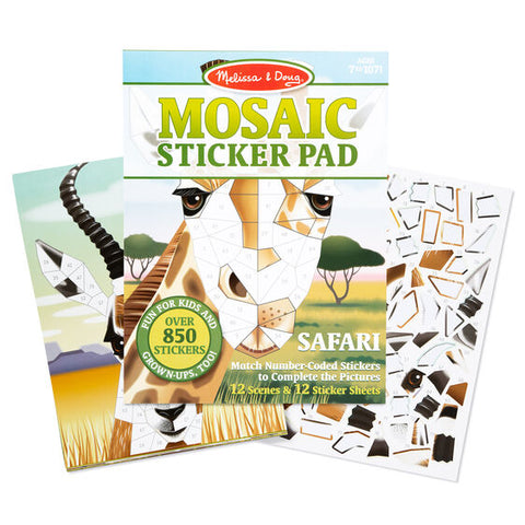 Melissa & Doug safari mosaic sticker pad