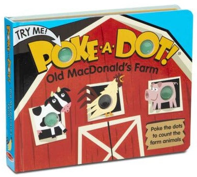 Melissa & Doug poke-a-dot book- Old MacDonald's Farmfarm