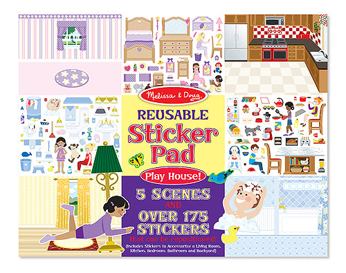Melissa & Doug reusable sticker pad- play house
