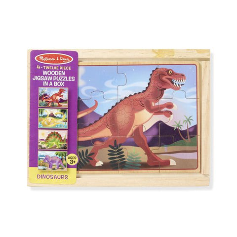 Melissa & Doug dinosaur puzzles in a box