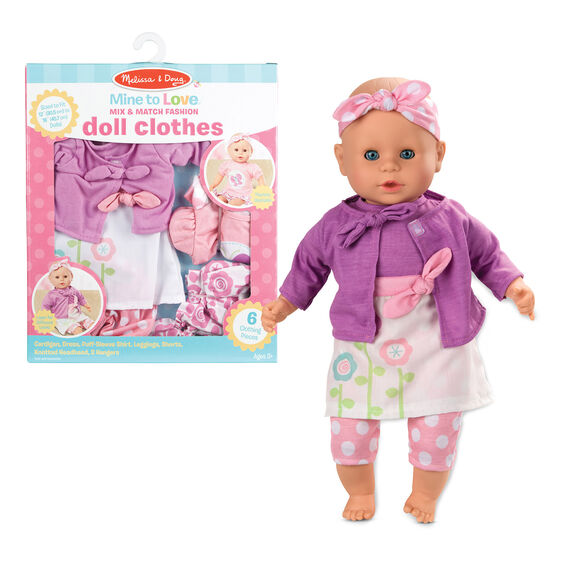 Melissa & Doug mix & match fashion doll clothes