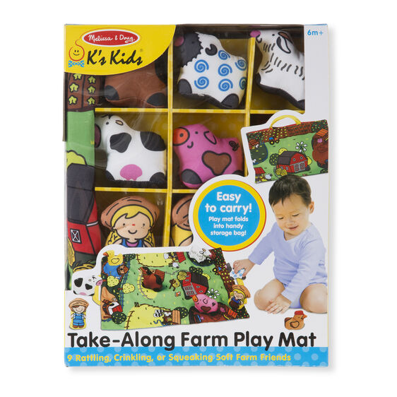 Melissa & Doug farm take-along play mat