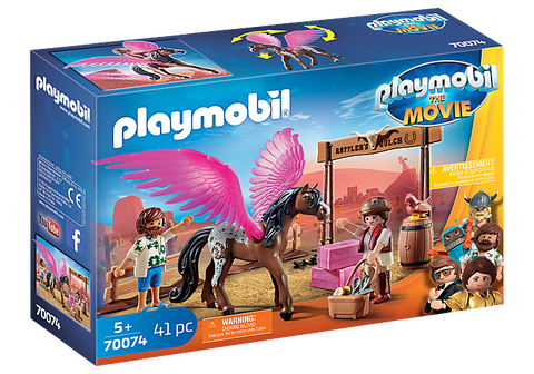 Playmobil movie Marla & Del with flying horse