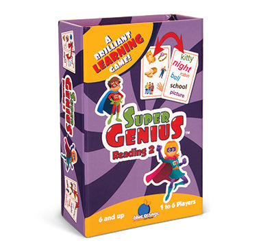 Blue Orange Super Genius: Reading 2. Card game for learning advanced words. 1-6 players for ages 6 and up.