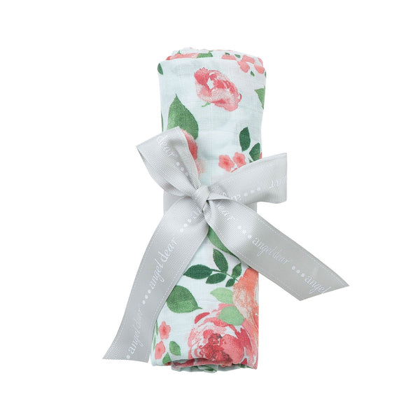 Angel Dear Muslin Swaddle Blanket- Rose Garden