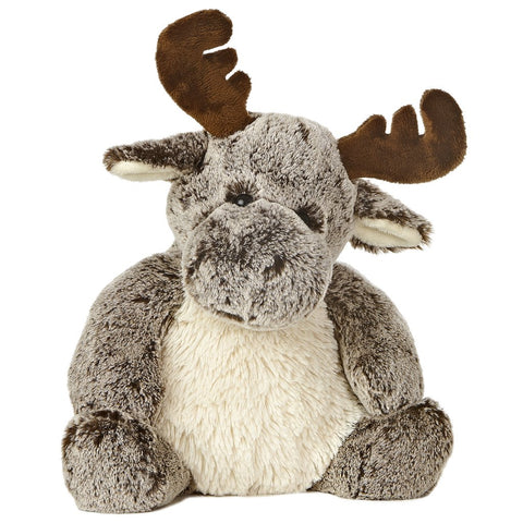 Aurora Sweeter & Softer Milo Moose. Brown Fluffy Moose with Antlers. Toy Plush Pet