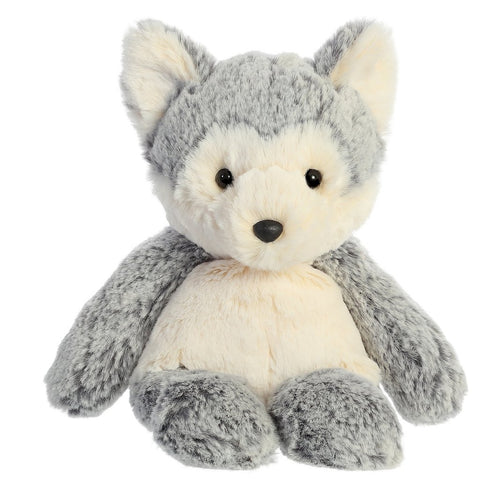 Aurora Sweeter and Softer Wolf. Grey and White fluffy wolf. Toy Plush Pet