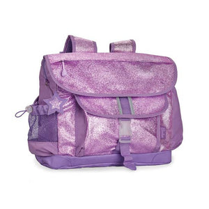 Bixbee Large Lavender Sparkle Backpack. Purple, glitter backpack.