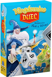 Blue Orange kingdomino duel. Dice game. 2 players ages 8 and up.