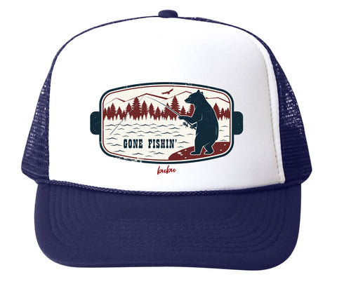 Bubu infant gone fishin' trucker hat