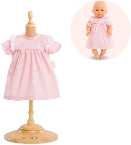 "Corolle 12"" doll outfit- pink knit dress"