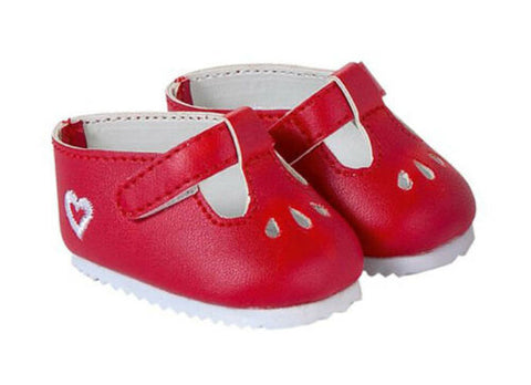 "Corolle 14"" doll shoes- red"