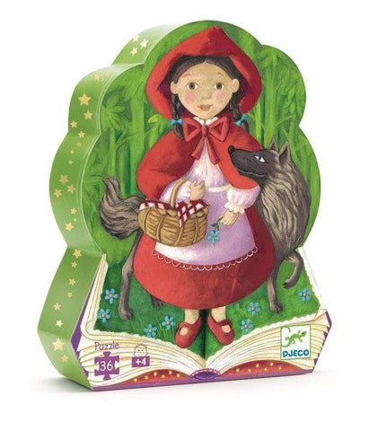 Djeco 36pc shaped box puzzle- Red Riding Hood