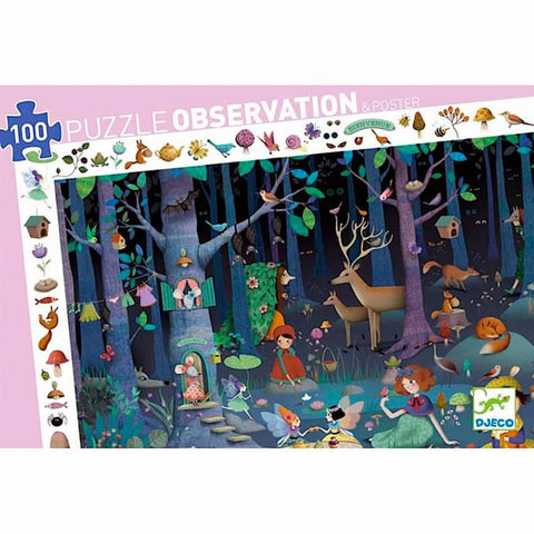 Djeco 100pc observation puzzle- Enchanted Forest