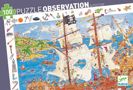 Djeco 100pc observation puzzle- Pirate Ship