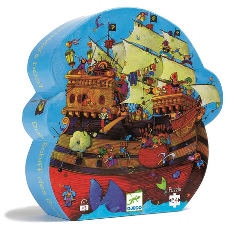 Djeco 54pc shaped box puzzle- Barbarossa's Boat