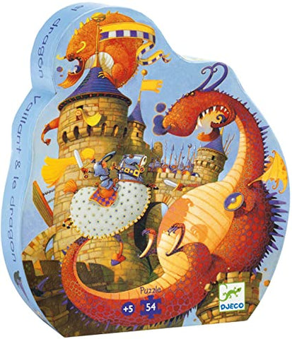 Djeco 54pc shaped box puzzle- Dragon