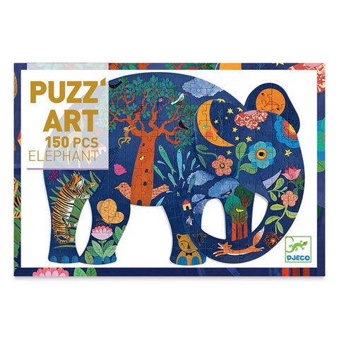 Djeco 150pc puzz-art puzzle- Elephant