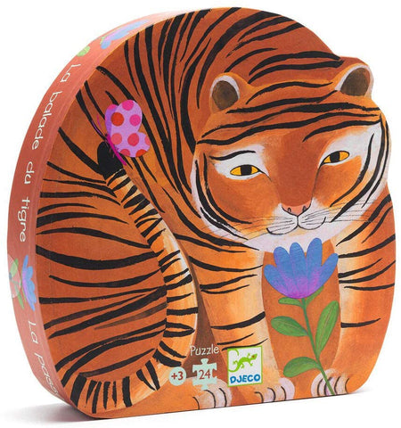 Djeco 24pc shaped box puzzle- Tiger