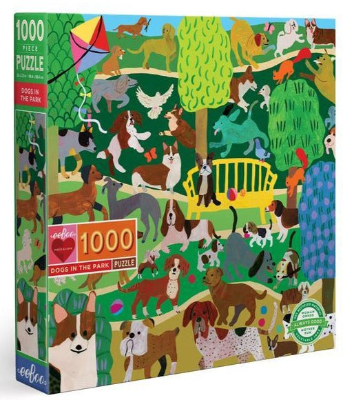 eeboo 1000 piece jigsaw puzzle dog in the park