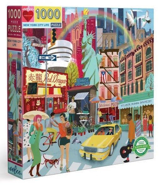 eeboo 1000 piece jigsaw puzzle new york
