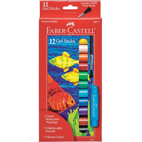 Faber-Castell 12 count gel sticks w/brush