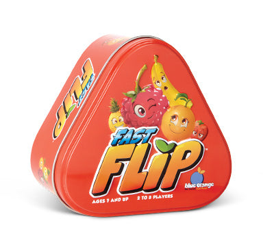 Blue Orange Fast Flip. Matching fruit and number game. 2-8 players for ages 7 and up.