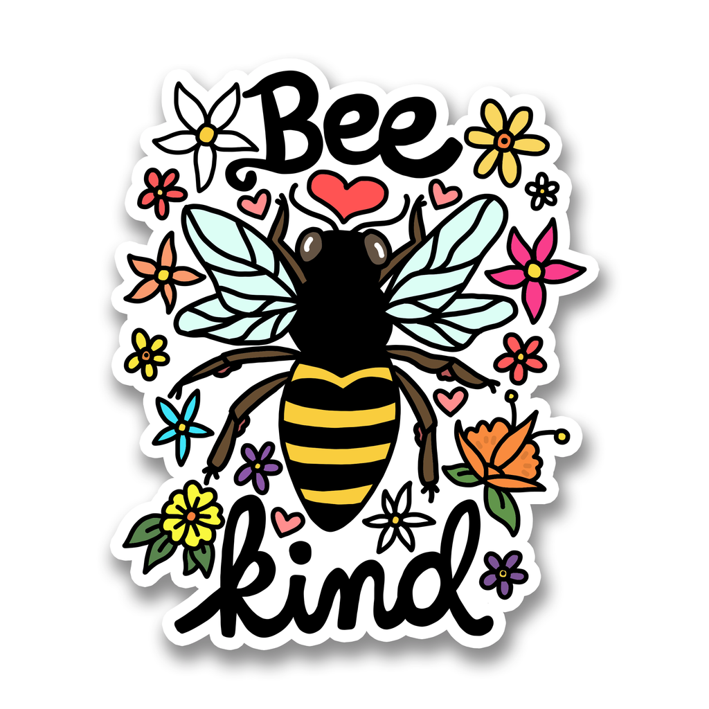 turtle soup bee kind sticker