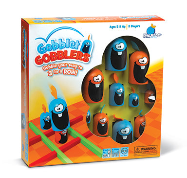 Blue Orange Gobblet Gobblers. Game of memory. 2 players for ages 5 and up.