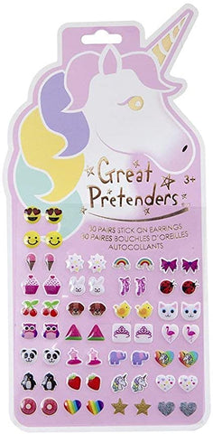 Great Pretenders unicorn sticker earrings