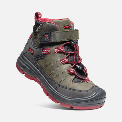 Keen redwood waterproof mid boot-steel grey/red