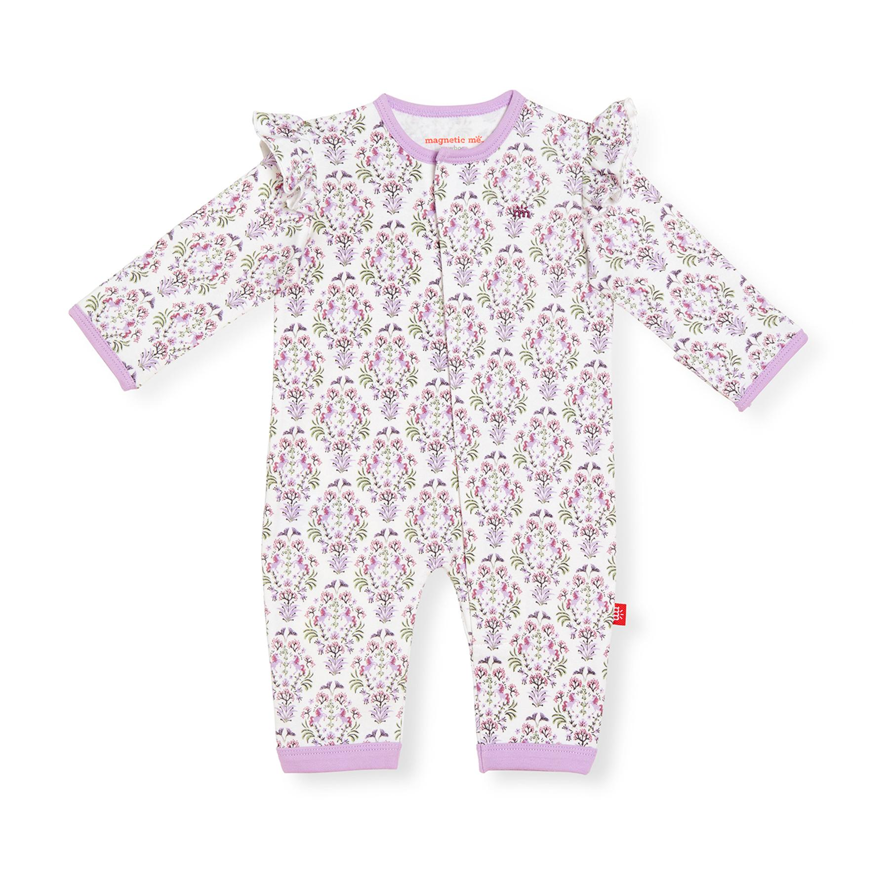 Magnetic Me organic cotton coverall- unicorn dreams