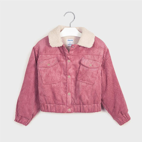 Mayoral girls crystal corduroy jacket