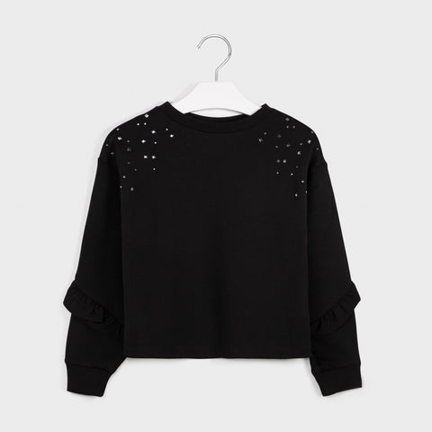 Mayoral girls black knit pullover