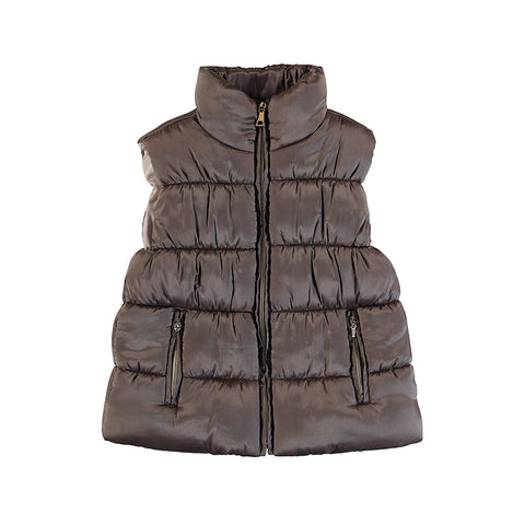 Mayoral girls mole brown padded vest