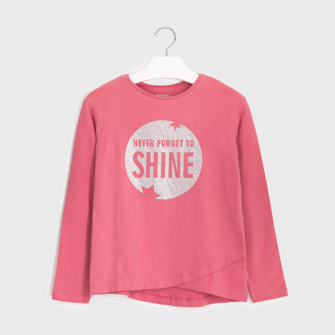 Mayoral girls long sleeve shine tee