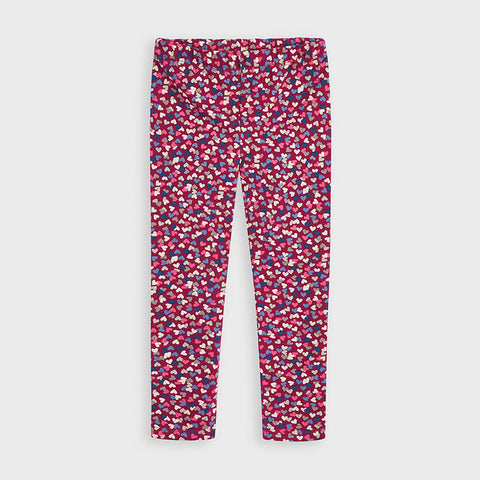 Mayoral girls burgundy heart print legging
