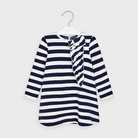 Mayoral girls navy striped dress