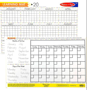 Melissa & Doug Learning Mat: calendar
